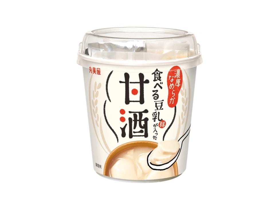新発売!甘酒と豆乳が同時に味わえる「食べるカップタイプの甘酒」が登場