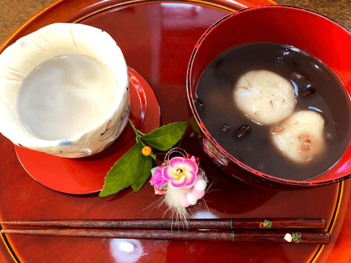 ☆謹賀新年☆お正月にぴったりな「甘酒餅おしるこ」と「小豆甘酒」を作ってみた!【マルコメ プラス糀】