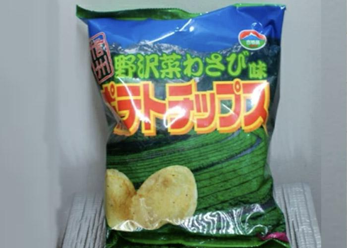 野沢菜わさび味ポテトチップス/お土産ベアニー 長野駅のお土産