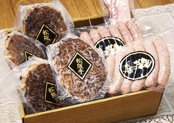 松阪牛ハンバーグ・ソーセージ詰合わせ/KAWAYOSHI お取り寄せグルメ 肉