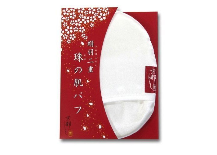 珠の肌パフ/京都しるく 京都駅のお土産