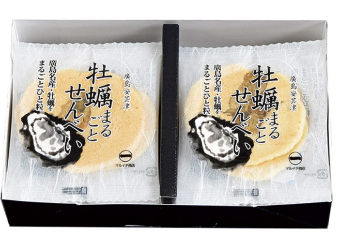 牡蠣まるごとせんべい/マルイチ商店 広島駅のお土産