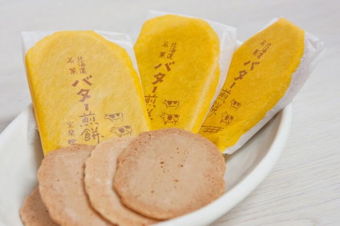 バター煎餅/お菓子の富留屋 室蘭のお土産