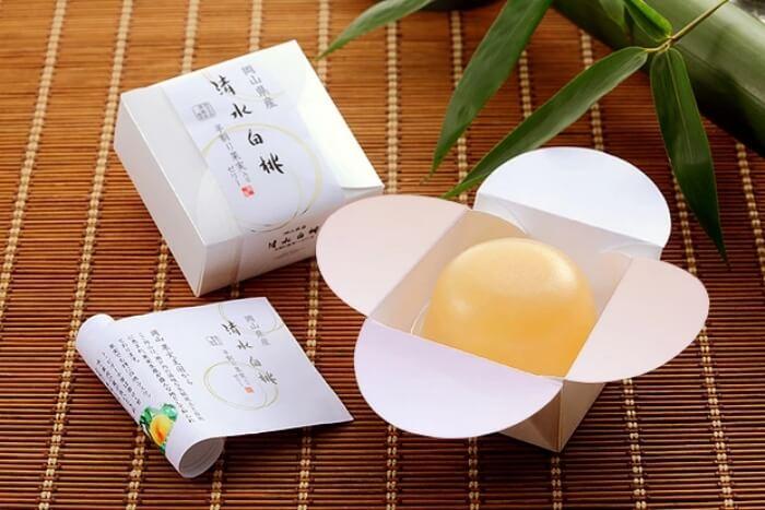 清水白桃ゼリー/志ほや 岡山の人気お土産