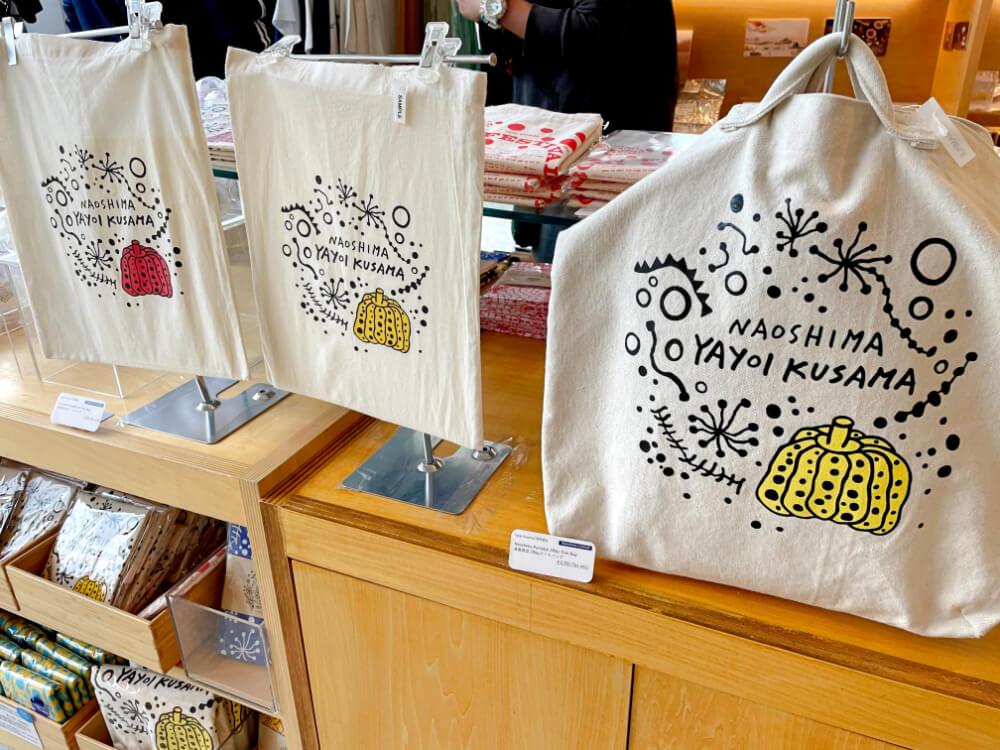 草間彌生かぼちゃトートバッグ 直島のお土産